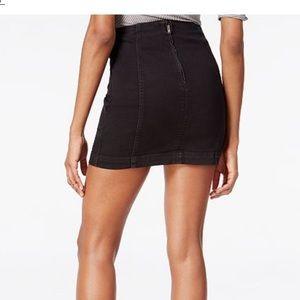 Free People Black modern femme denim mini skirt